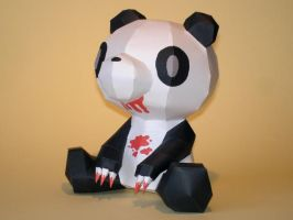 Pandatone Gloomy Papercraft by Skele-kitty
