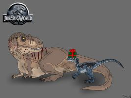Merry Christmas from Rexy and Blue by TrefRex