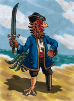 Chicken Pirate by Erikku8