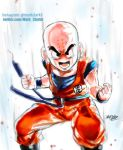 Krillin Rage by Mark-Clark-II