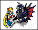 Commission - KAIJU COUPLES by AlmightyRayzilla