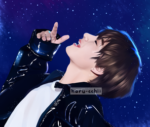 FA:: a rude tae and lots of sparkles by haru-cchii