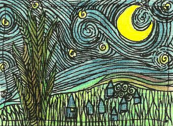 Rendition of Starry Night by MindfullyArtistic