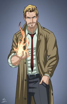 John Constantine (Earth-27) commission by phil-cho