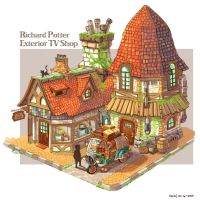 Richard Potter Exterior TV Shop - Colored by anacathie