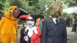 Harley Quinn and Scarecrow by Octaviana