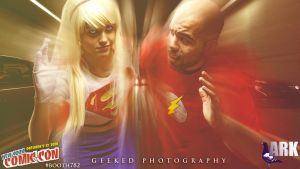 Super Girl vs The Flash by TrappedPetals