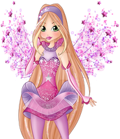 Winx Club 8 - Flora Transformation PNG by Feeleam