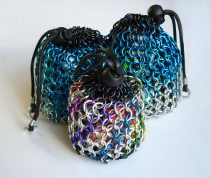 Chainmail Dice Bags by squanpie