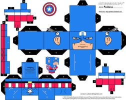 Captain America Cubee by Pankismo