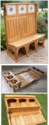 Mud Room Bench and Top Cabinet by Built4ever