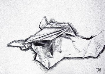 Origami Frog Sketch by Ridesfire