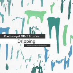 Dripping Photoshop and GIMP Brushes by redheadstock