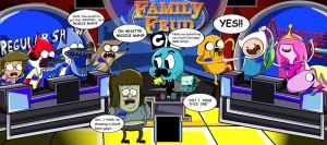 Regular Show vs Adventure Time- Family Feud by xeternalflamebryx