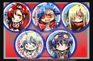 Gurren Lagann button set by jinyjin