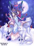 Queen of the Arctic Wolves by maria-jaujou