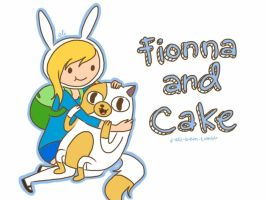 Fionna and Cake by j-eli-bean
