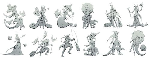 Gwen the Bubble Queen Silhouettes by yefumm