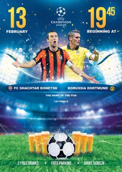 01 Champions League Poster Template by sluapdesign