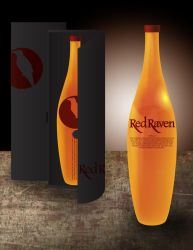 Red Raven Whiskey Mock-Up by KitsuneSam