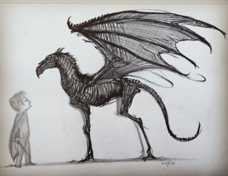 Thestral by AlexRuizArt