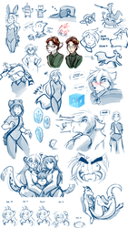 Misc Sketches #1 by Twokinds
