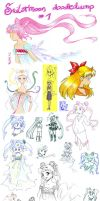 Sailormoon doodledump 1 by NitroFieja