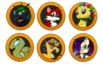 Brony Badge set 18 by DBurch01