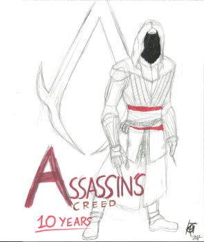 10 Years of the Assassin's Creed by JMK-Prime