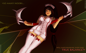 Nurse Akali Wallpaper by SylkAnsael