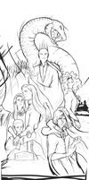Harry potter- villains lineart by ymymy