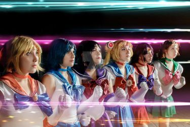 Sailor scouts cosplay by selene-nightmare69