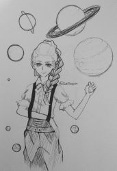 .:Inktober - Planets:.  by CloudyCaelum
