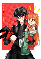 Joker and Futaba by SugarKuki