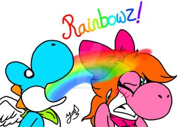 Rainbowwwz!!! [Redrawn] by YoshiStar01