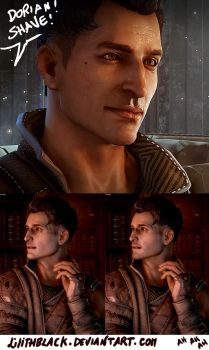 Dorian Pavus without his facial hairs by Lilithblack