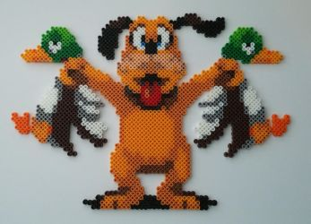 Duck Hunt Dog Perler Beads by kamikazekeeg