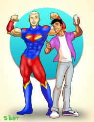 Alternate Superman and Jimmy Olsen by TumbledHeroes