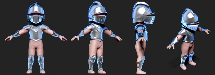 Knight 3D WIP#2 by Dmeville