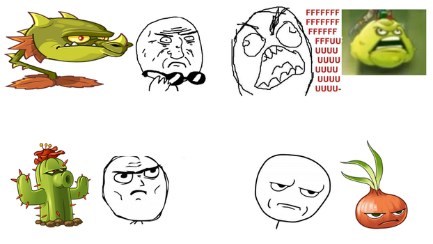 Plants VS Funny Faces by ALAND420