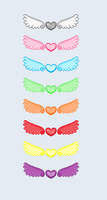 Winged hearts pixels by Rinkagamine1999