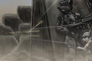 Commission- Soldier on the bat by Barrin84