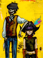 pb.murdoc and noodle by Basty007