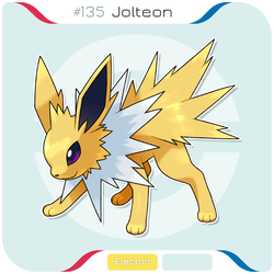 135 Jolteon by zerudez