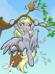Hang In There Derpy by KissTheThunder