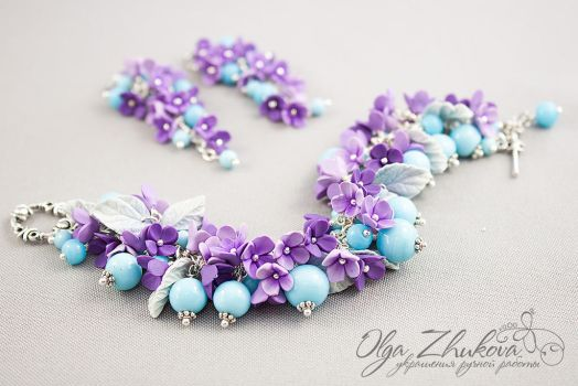 Set with lilac by polyflowers