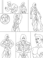 Muscle Growth - page 3 | Commission by The-Muscle-Girl-Fan