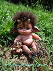 Baby Satyr and his new Brother, Mini Satyr by briescha