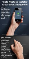 Photo-realistic Isolated Smart Phone Template by Ondrejvasak