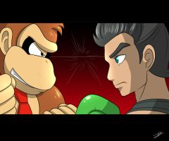 Donkey Kong VS Little Mac by amito